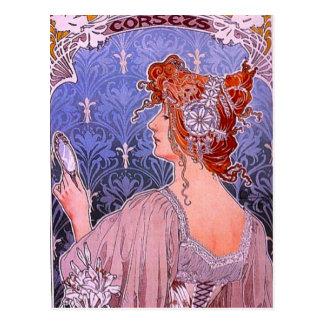 コルセット広告 ポストカード