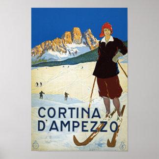 コルティナD'Amprezzo ポスター