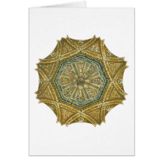 コルドバスペインのモスク。 ミフラーブのキューポラ カード