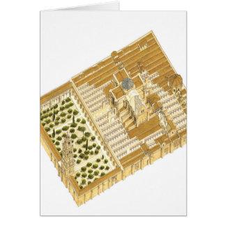 コルドバスペインのモスク。 空中写真 カード
