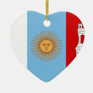 コルドバ、アルゼンチンの旗 セラミックオーナメント