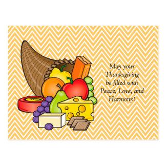 コルヌコピアの感謝祭の恵み ポストカード