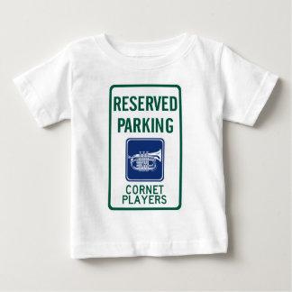 コルネットプレーヤーの駐車 ベビーTシャツ