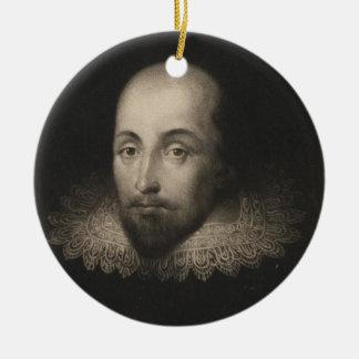 コルネリウスジャンセン著ウィリアム・シェイクスピア劇作家 セラミックオーナメント