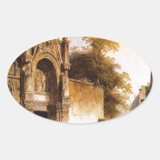 コルネリスのスプリンガーによって教会から出ること 楕円形シール