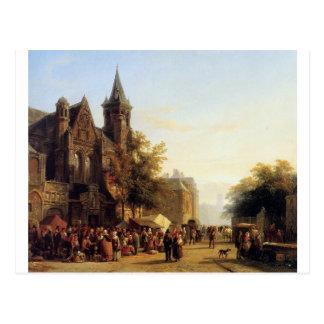 コルネリスのスプリンガーによる姿との都市眺め ポストカード