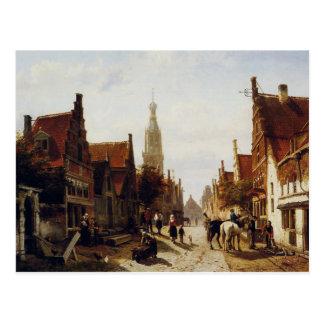 コルネリスのスプリンガーによる市場Oudewater ポストカード