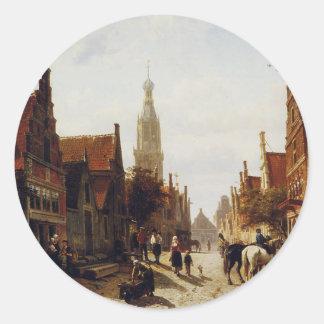 コルネリスのスプリンガーによる市場Oudewater ラウンドシール