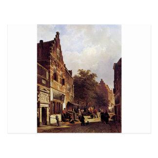 コルネリスのスプリンガーによる通りの眺め ポストカード