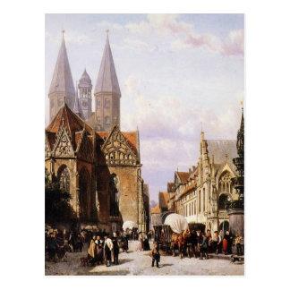 コルネリスのスプリンガーによるBrunswijkのAltstadtmarkt ポストカード