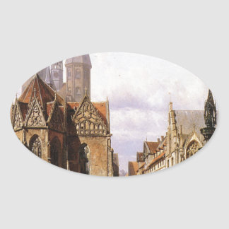 コルネリスのスプリンガーによるBrunswijkのAltstadtmarkt 楕円形シール