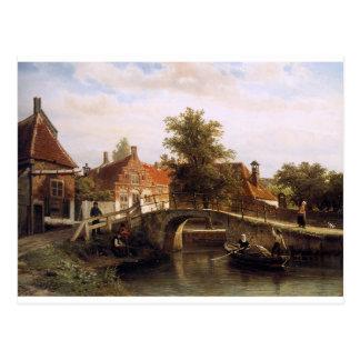 コルネリスのスプリンガーによるEnkhuizenの眺め ポストカード