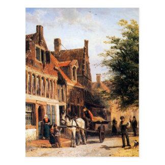 コルネリスのスプリンガーによるEnkhuizenのVissersdijk ポストカード