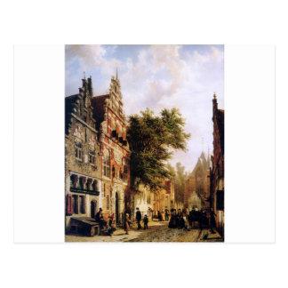 コルネリスのスプリンガーによるEnkhuizenのWeeshuis ポストカード