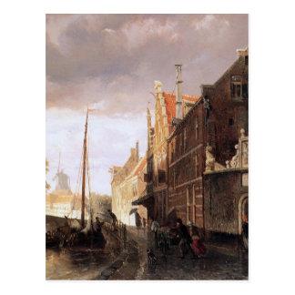 コルネリスのスプリンガーによるKampenのWeeshuis ポストカード