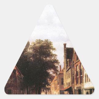 コルネリスのスプリンガーによるWalenkerkハールレム 三角形シール