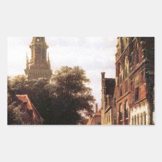 コルネリスのスプリンガーによるWalenkerkハールレム 長方形シール