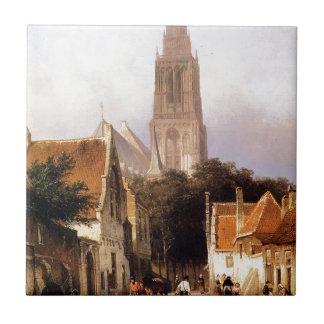 コルネリスのスプリンガーによるZaltbommelの教会 タイル