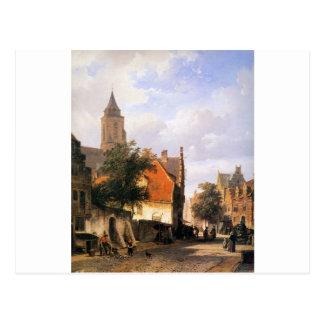 コルネリスのスプリンガーによるZaltbommelの教会 ポストカード