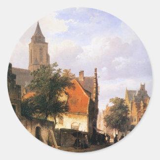 コルネリスのスプリンガーによるZaltbommelの教会 ラウンドシール