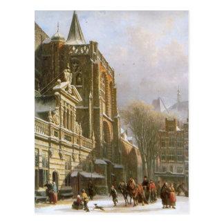 コルネリスのスプリンガーによるZwolleのセントマイケル教会 ポストカード