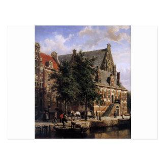 コルネリスの春までにWesterkerkのOude Waag ポストカード
