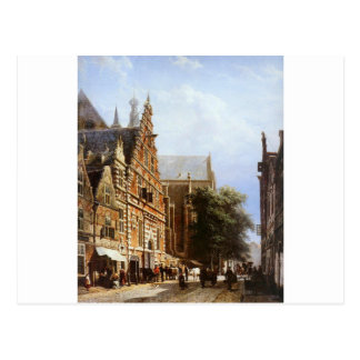 コルネリス著ハールレムのVleeschhalおよびGrote Kerk ポストカード