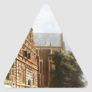 コルネリス著ハールレムのVleeschhalおよびGrote Kerk 三角形シール