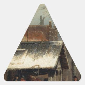 コルネリス著冬のCulemborgの鍛治場 三角形シール