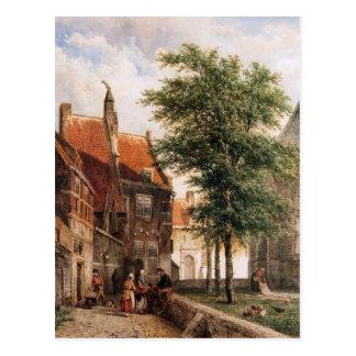 コルネリス著NaardenのGrote Kerkの後ろの眺め ポストカード