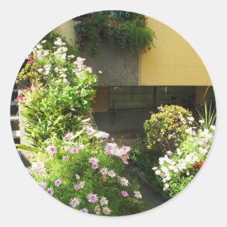 コルフ島ギリシャの古い町の花 ラウンドシール