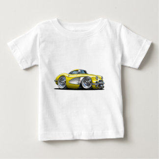 コルベットの黄色い車 ベビーTシャツ