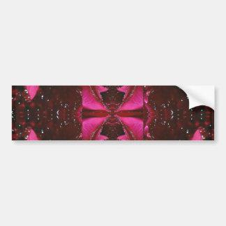 コレクターの版-輝き赤いnのピンクのバラ バンパーステッカー