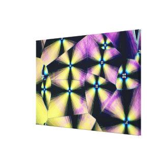 コレステロールの水晶 キャンバスプリント
