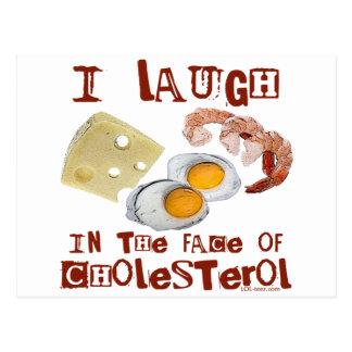 コレステロールの笑い ポストカード