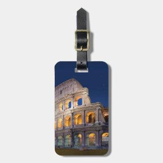 コロシアムのローマの荷物のラベル ネームタグ