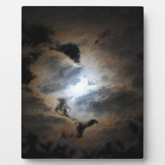 コロナが付いている月 フォトプラーク