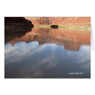 コロラド川のCanyonlands カード