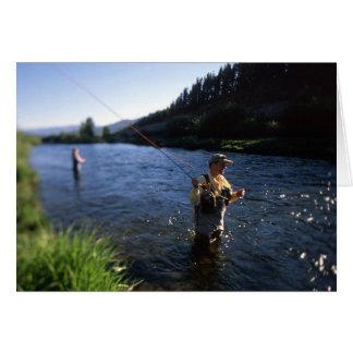 コロラド州のはえの魚釣り カード