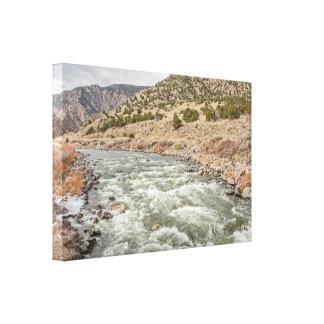 コロラド州のアーカンザス川; 冬; 川 キャンバスプリント
