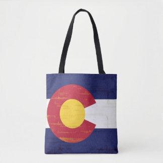 コロラド州のグランジな旗 トートバッグ