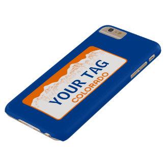 コロラド州のナンバープレート-チーム色 BARELY THERE iPhone 6 PLUS ケース