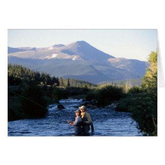 コロラド州のピークのshawdowsの魚釣りを飛ばして下さい カード