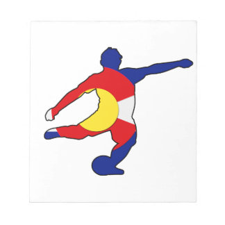 コロラド州のプライドのサッカーの選手! ノートパッド