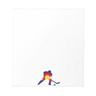 コロラド州のプライドのホッケー選手 ノートパッド