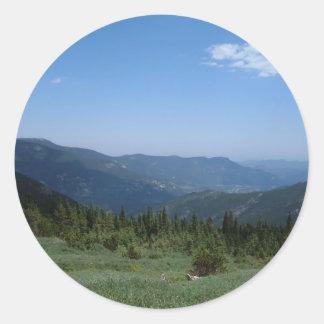 コロラド州のロッキー山脈のパノラマ ラウンドシール