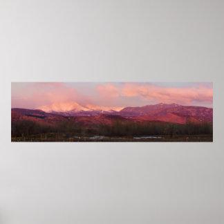 コロラド州のロッキー山脈の日の出 ポスター