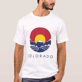 コロラド州のロッキー山脈諸州の旗 Tシャツ