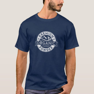 コロラド州の優れたオーガニックな粉 Tシャツ