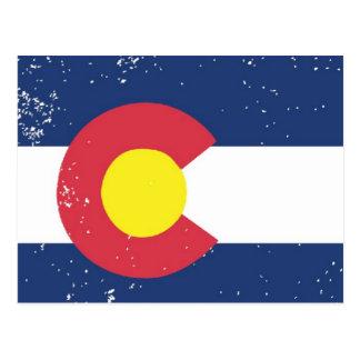 コロラド州の動揺してな旗 ポストカード